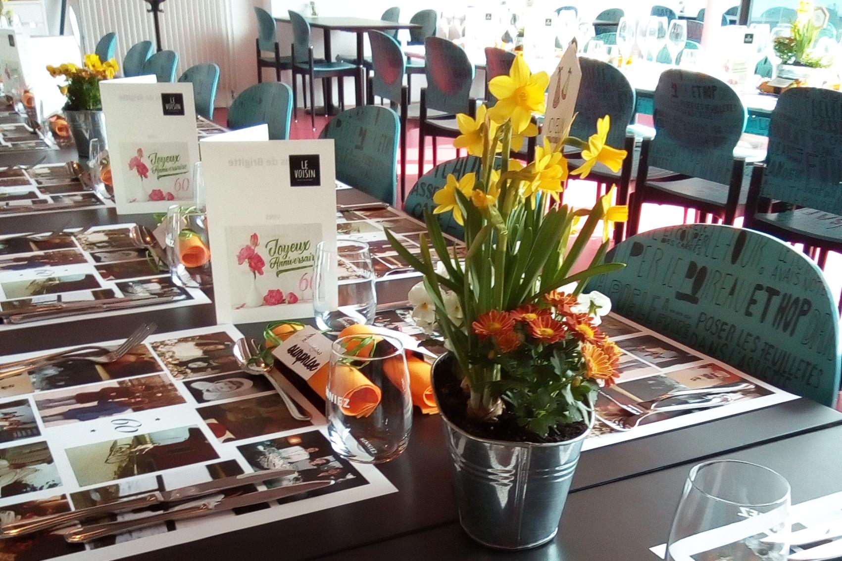 Tables de banquet au Restaurant Le Voisin
